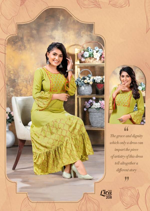 Ft Liva 2 Latest Fancy Heavy Rayon Printed Ethnic Wear Long Kurtis Collection