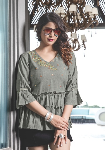 Yami Topsy Vol 12 Stylish Collection Of Ladies Tops With Embroidery Work