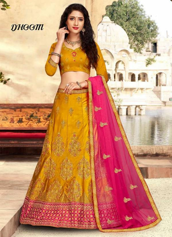 Saanchi Dhoom Wedding Designer Bridle Embroidered Silk Lehenga Choli Collection