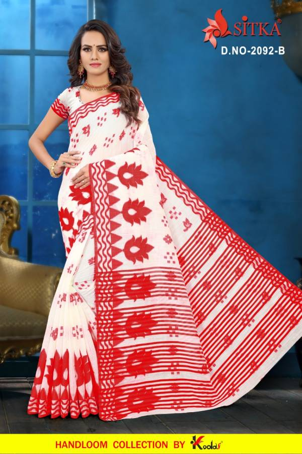 Printed Poly Cotton Daily Wear Saree Collection