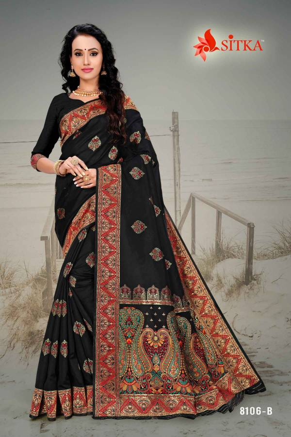 Latest Designer Party Wear Cotton Silk Saree Collection