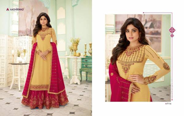 New Designer Heavy Embroidery Work Wedding Suit With Sharara And Dupatta With Four Sided Border