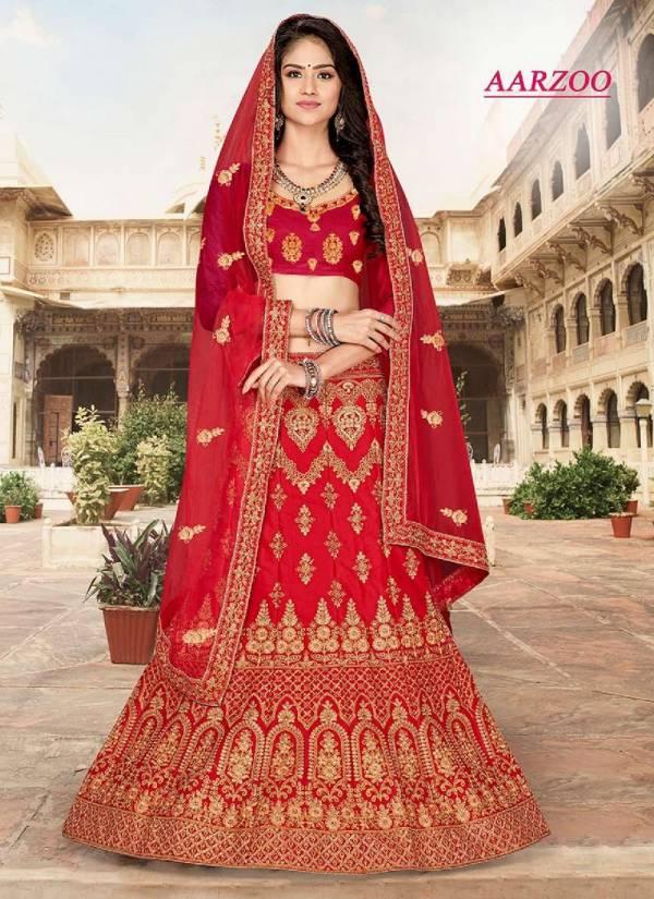 Aarzoo Party wear Designer Silk Heavy Lehenga Choli