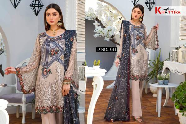 Khaariya Maryams Gold Vol -06 Heavy Embroidered Georgette Pakistani Dress Collection