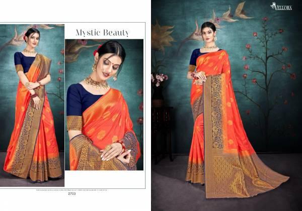 Vellora Vol 17 New Launch Of Latest Party Wear Wedding Wear Banarasi Silk Saree Collection