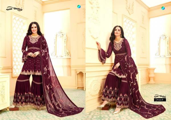 Y.C Riyasat Latest Designer FAncy Wedding Wear Blooming Georgette  Embroidery Salwar Kameez Collection