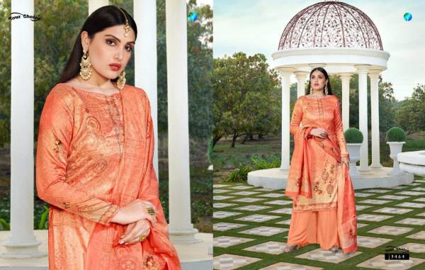 Your Choice Digital Print Cotton Plazzo Suit With Jam Silk Dupatta