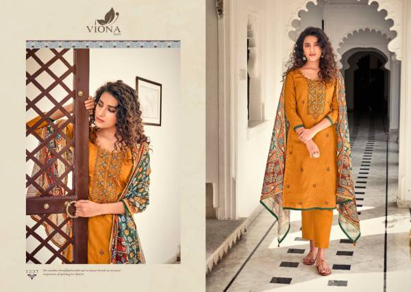 VIONA AAFIA Latest Fancy Casual Wear Cotton Jam Stain Negative Printed With Heavy Embroidery Work Salwar Suit Collection
