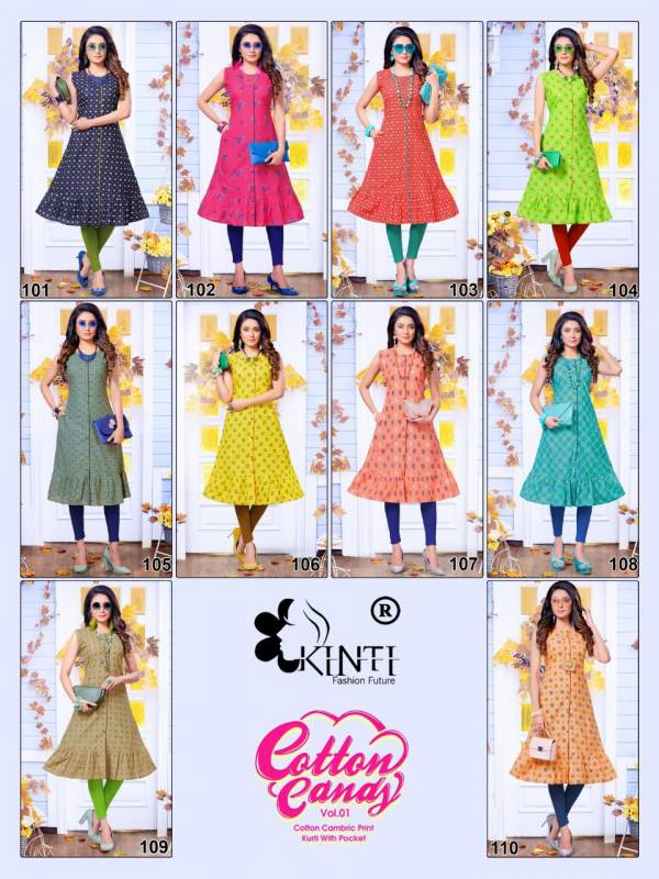 Kinti Cotton Candy 1 A Latest Fancy Designer Ethnic Wear Line Cambric Cotton Printed Kurti Collection