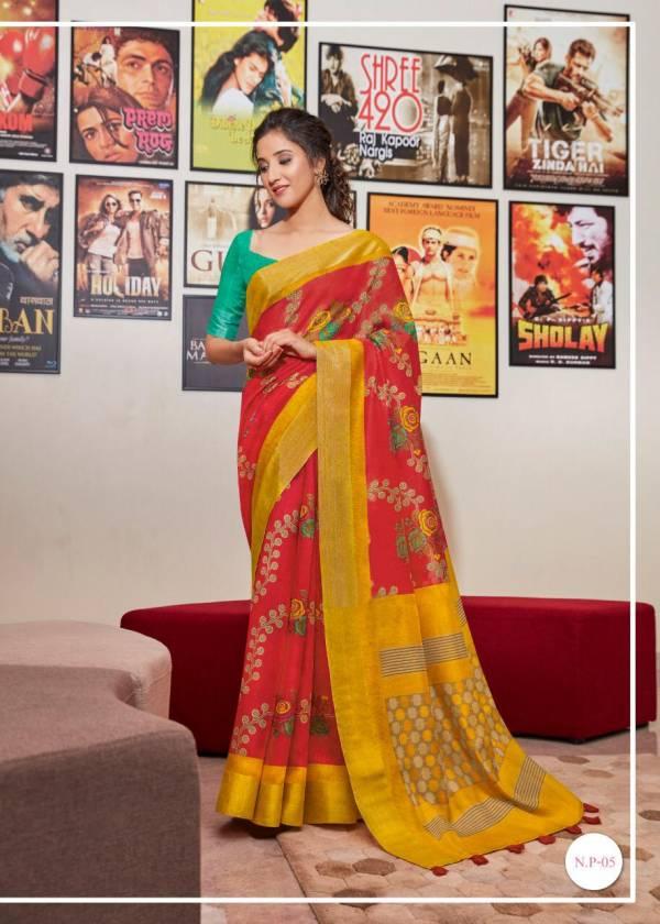 Myra Narayanpeth Pattu Printed Stylish Saree Collection For Casual Wear