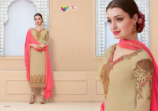 Sanskriti Saarthi Fashion Mahira Georgette Embroidery Work Desgner Chudidar Salwar Suit Collections