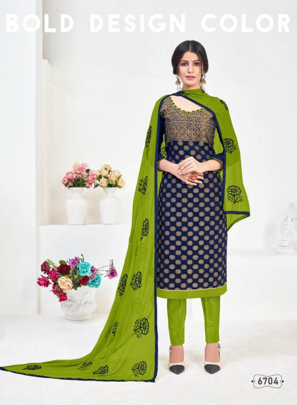 Silky 67 Latest Festival Wear Banarasi Jacquard With Santoon Inner and Nazneen Chain With Lace Dupatta