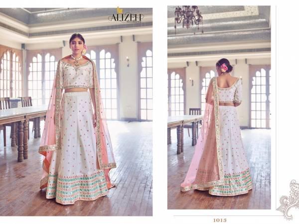Alizeh Mirror Maze 1 Wedding Wear Latest Designer Silk Lehenga Collection