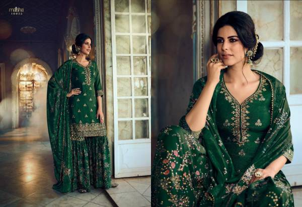 MAISHA  MASKEEN  VOL 08 Latest fancy designer Heavy Festive Wear pure Dola silk Jacquard embroidery with hand work gala Salwar Suit Collection