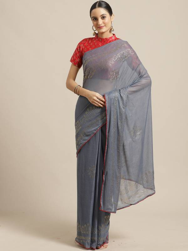 Latest Collection Of Designer Casual Wear Chiffon Saree