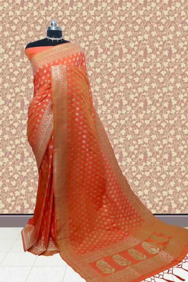 Latest Designer Party Wear Bridal Heavy Kanchi Silk Saree Collection