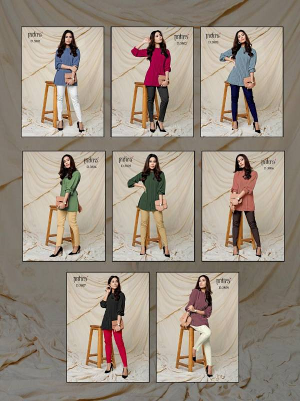 Indira Forever-2 Latest Stylish Two Piece Collection Of casual Ladies Top With Formal Pant