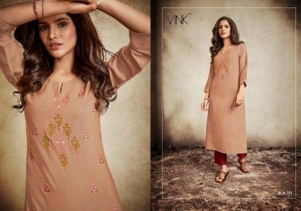 VINK ORCHIDS  2 Designer Party Wear Khatli Handwork Pure Staple Handloom Kurties