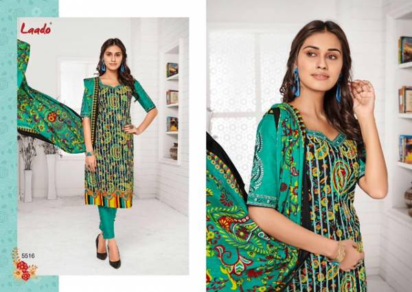 Laado Print 55 Latest Collection Of Daily Wear Printed Pure Cotton Salwar Kameez