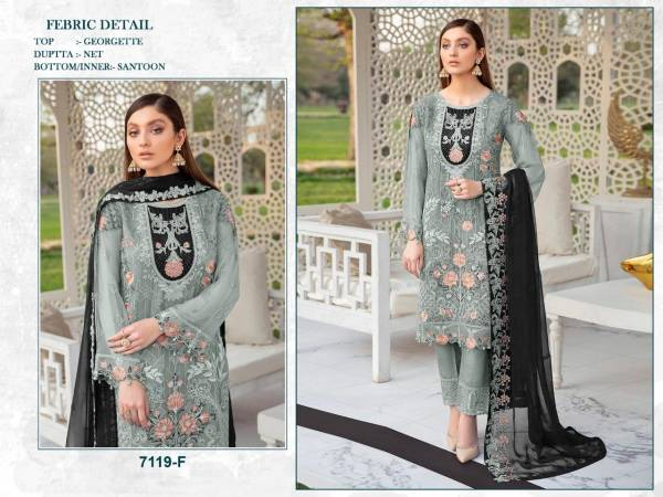 Suhani 7119 Designer Georgette Festive Wear Pakistani Salwar Kameez Collection