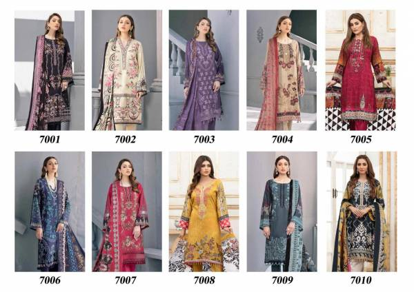 Iris Vol - 7 Latest Printed Casual Wear Pure Cotton Karachi Dress Material Collection