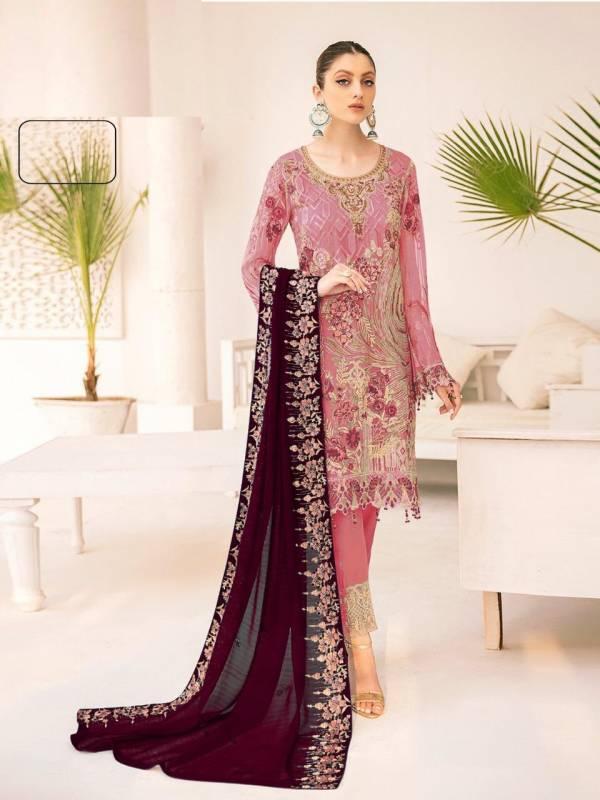Kb Super Hit 524 Designer Georgette Festive Wear Pakistani Salwar Kameez Collection