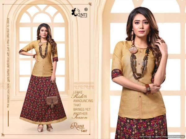 Kinti Rang Tarang Vol 14 Latest Collection Of Ladies Top With Beautiful Stylish Skirt
