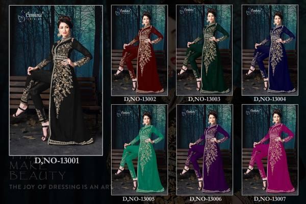 Senhora Malaika Vol 13 Latest Heavy Designer Wedding Party Wear Pure Georgette Heavy Embroidered With Pure Chiffon Dupatta Salwar Kameez Collection