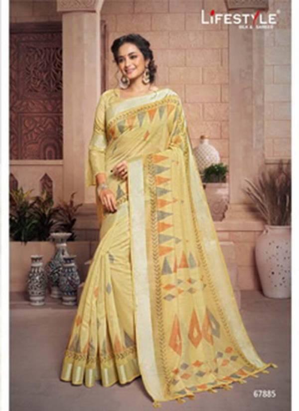 Lifestyle Vivanta Cotton Fancy Cotton Print Saree With Jari Border Designer Party wear Saree Collections