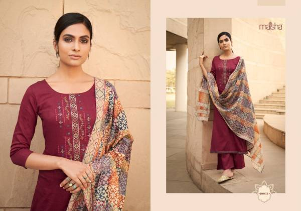 MAISHA IKAYA Fancy Designer Latest Festive Wear pure cotton print with cool looking embroidery work Salwar Suit Collection