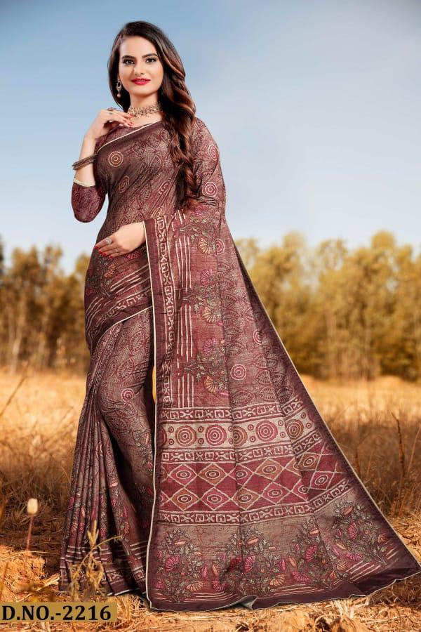 Naree Beauty Silk Printed Designer Party wear Saree Collections