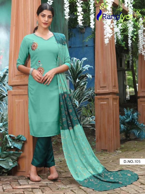 Rangjyot Chitra 1 Fancy Ethnic Wear Silk Ready Made Collection