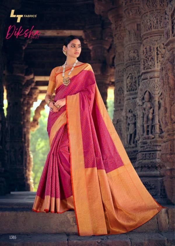 Lt Diksha 2 Latest Fancy Designer Casual Wear Patola Silk Saree Collection