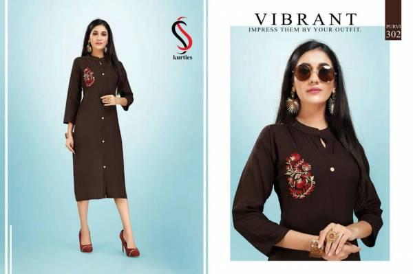 Ss Purvi Vol 3 Latest Designer Daily Wear Rayon Kurtis Collection