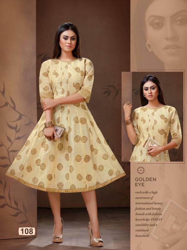 Viyasaa Present New Designer Banglori Silk With Beautiful Print Short Kurti
