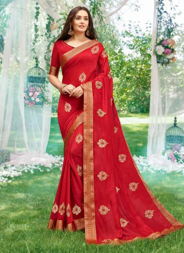 Khushboo Vichitra Silk Designer Party Wear Sarees Collection 1001-1006
