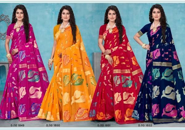 Kalista Rimly Cotton Silk Casual Wear Designer Saree Collection