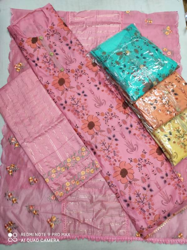 Kst Heavy Modal 2 Casual Wear Chanderi Cotton Printed Dress Material Collection