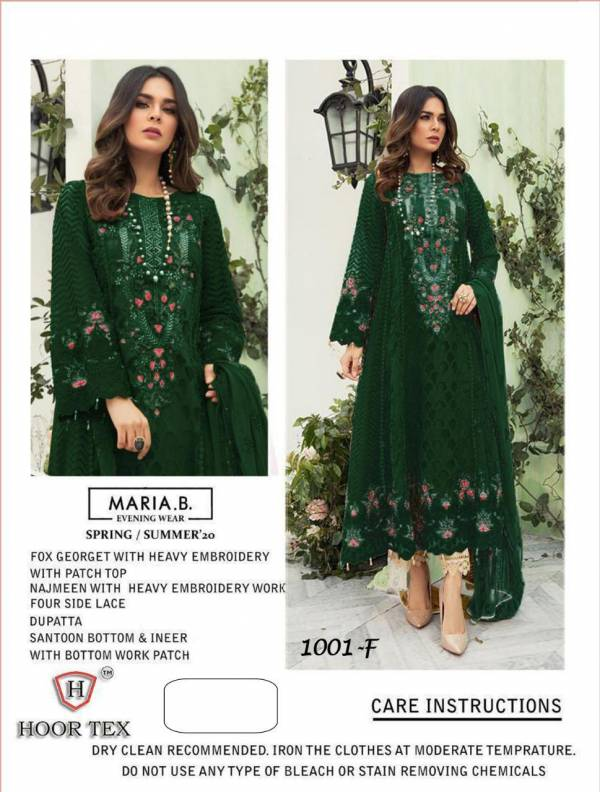Hoor tex MARIA.B. Supe Hit Design Faux Georgette with Embroidery work Designer Pakistani Collections Full Set and Single Available