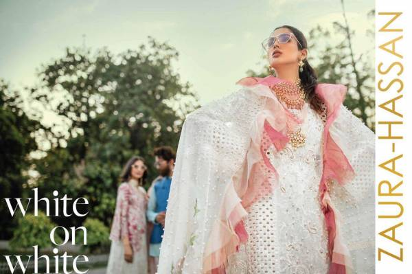 Zaura Hassan Mashq Cambric Cotton with Embroidery Pakistani Designer Salwar Suit Collections