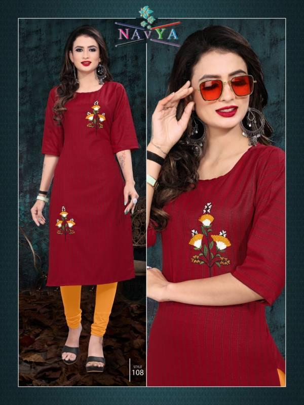 Navya Fashion Bits Latest Designer Fancy Party Wear Kurti Collection