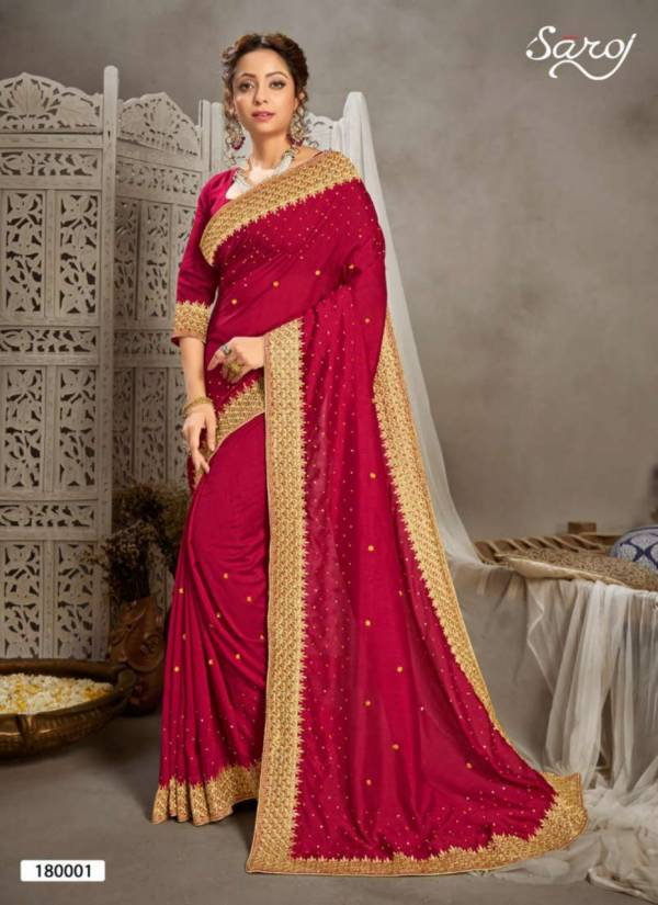 Saroj Kala Nidhi Vichitra Silk Latest Heavy Designer Festive Wear Fancy Silk Sarees Collection