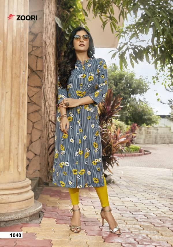 Zoori Akshara 5 Latest fancy Regular Wear Rayon Printed Kurtis Collection