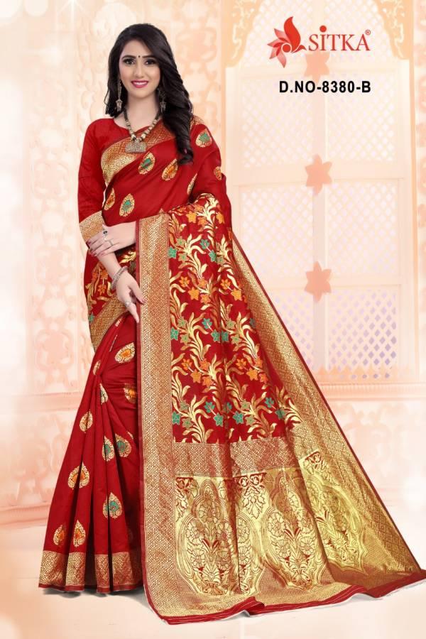 Haytee Lilly 8380 Party Wear Stylish Function Wear Designer Handloom Cotton Silk Saree Collection