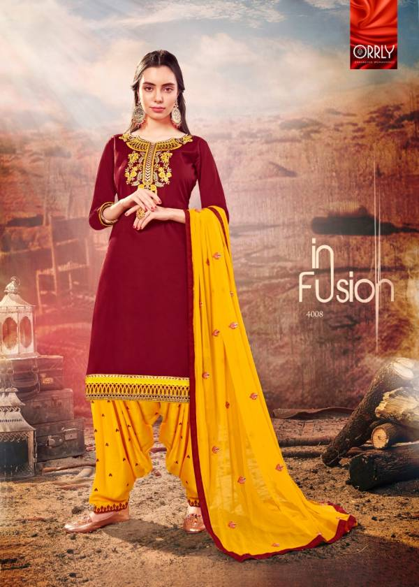 Heavy Embroidery Work Designer Punjabi Dress Material With Nazneen Embroidered Dupatta