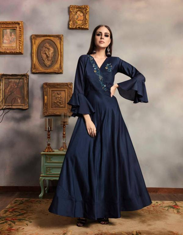 Crown - Vol 3 New Designer Heavy Party Wear Viscose Musalin With Value Added Embroidery And Hand Work Kurti Collection