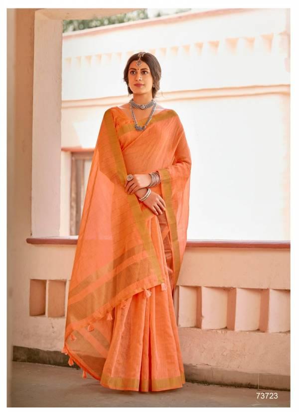 LIFESTYLE RAJSHREE Latest Fancy Designer casual Wear Cotton Jari Saree Collection
