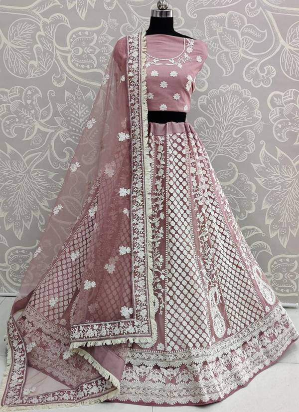 Latest Heavy Designer Party Wear Bridal Lucknowi Work Lehenga Choli Collection