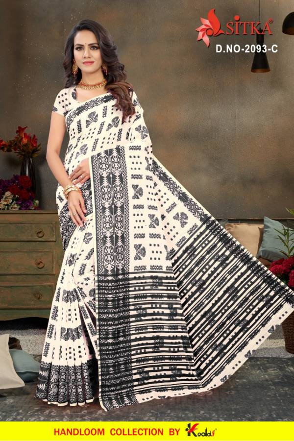 Latest Collection of Designer Printed Poly Cotton Saree