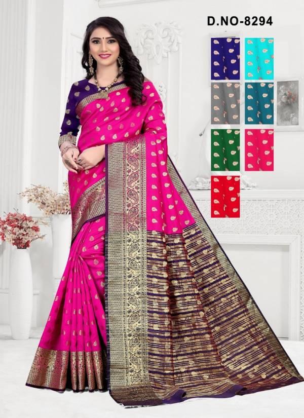 Haytee Soumitra 8294 Latest Designer Festive Wear Cotton Silk Saree Collection